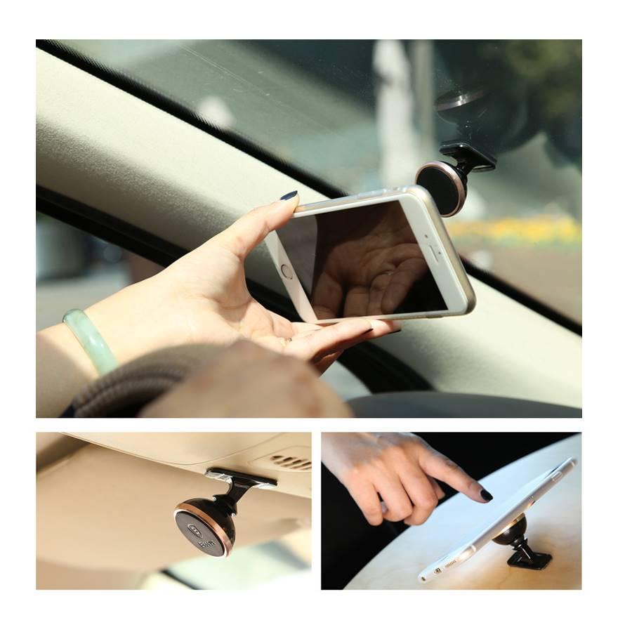 Le support pour téléphones portable est adapté à tous les endroits de la voiture.