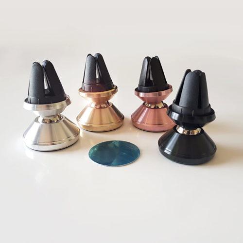 Les 4 coloris de supports magnétiques pour téléphone.