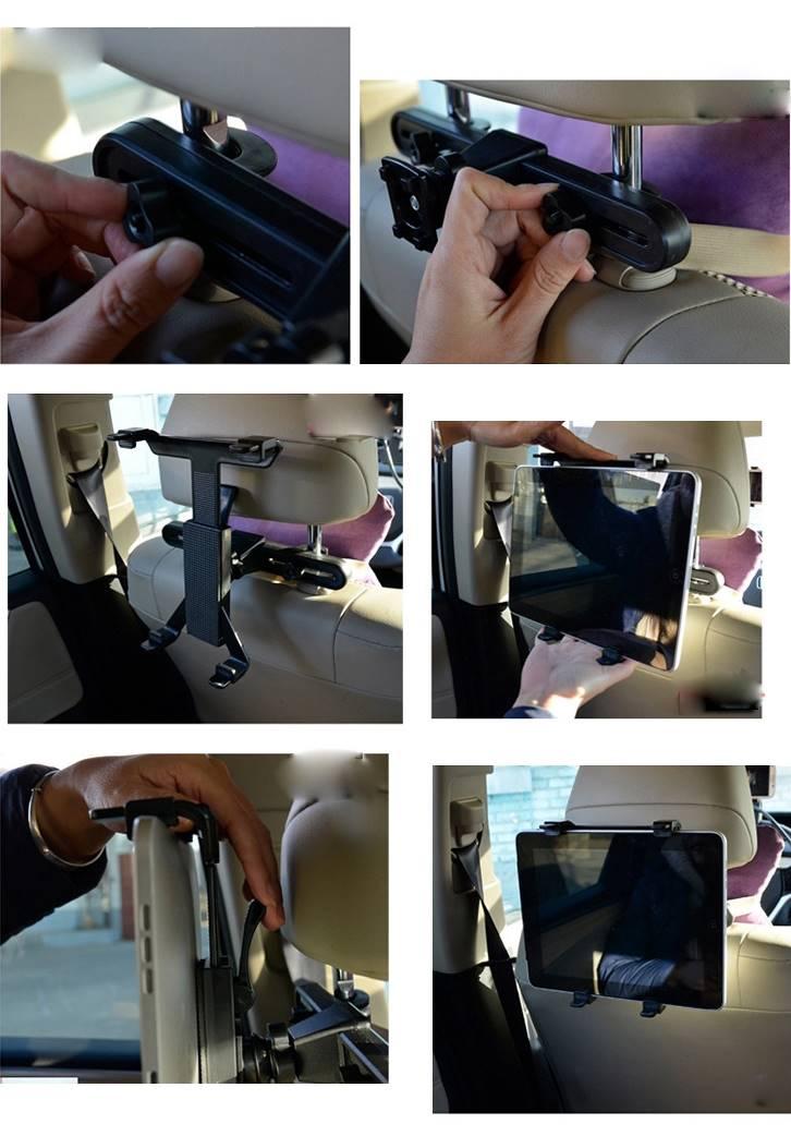 Notice de montage du porte iPad pour voiture.