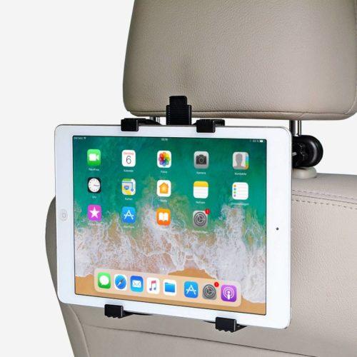 Support iPad pour appui-tête de siège de voiture.