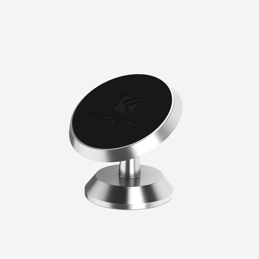 support-telephone-magnetique-argent