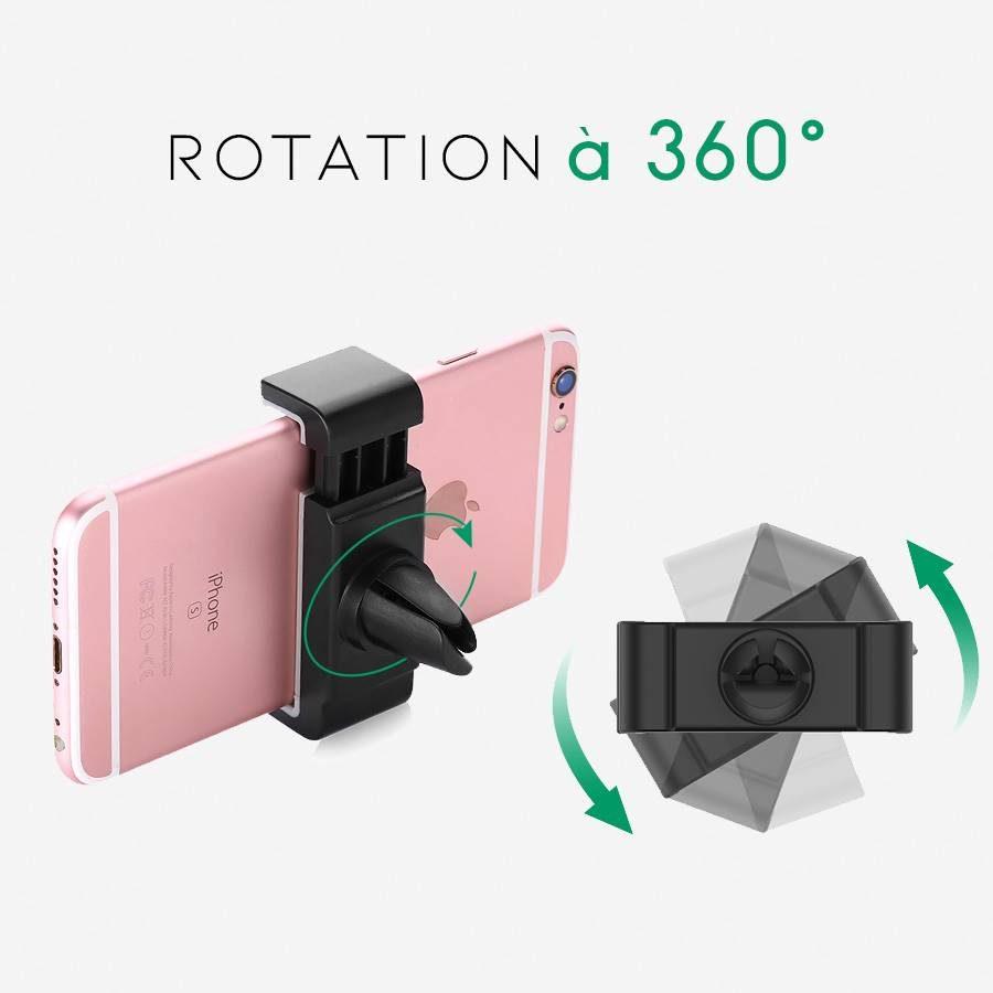 support-telephone-voiture-noir-ugreen-rotation-360