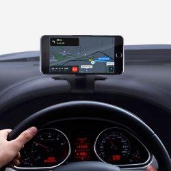 Support GPS magnétique pour voiture avec affichage tête haute.