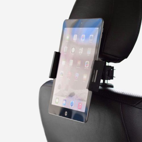 Porte tablette noir pour auto en mode portrait.